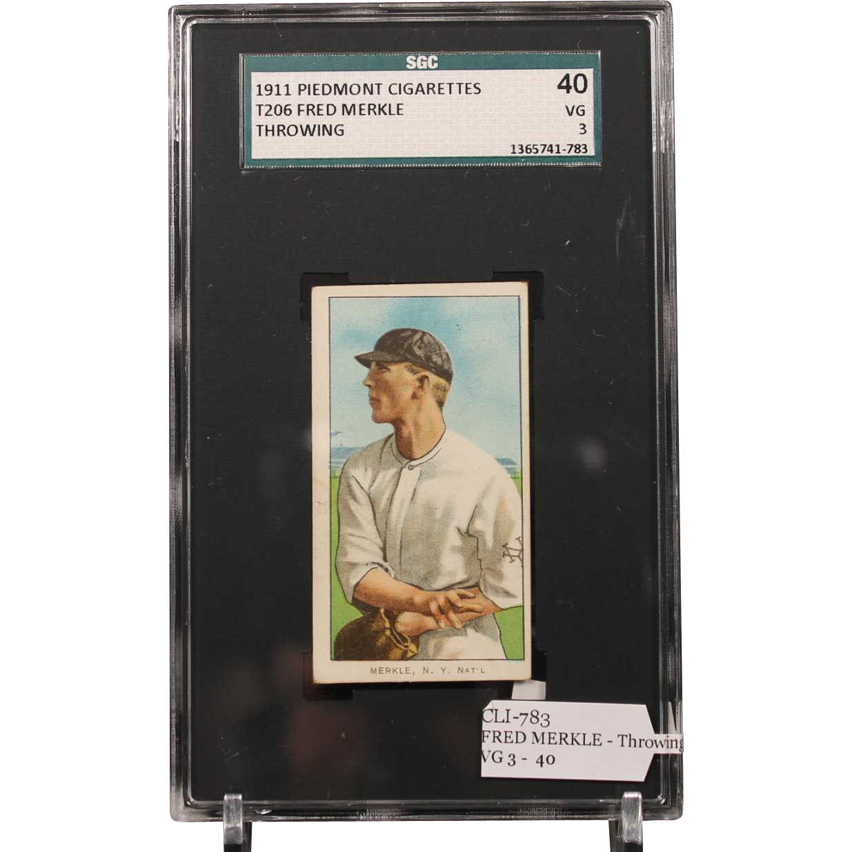 T206 FRED MERKLE - Throwing SGC grade 40 VG 3