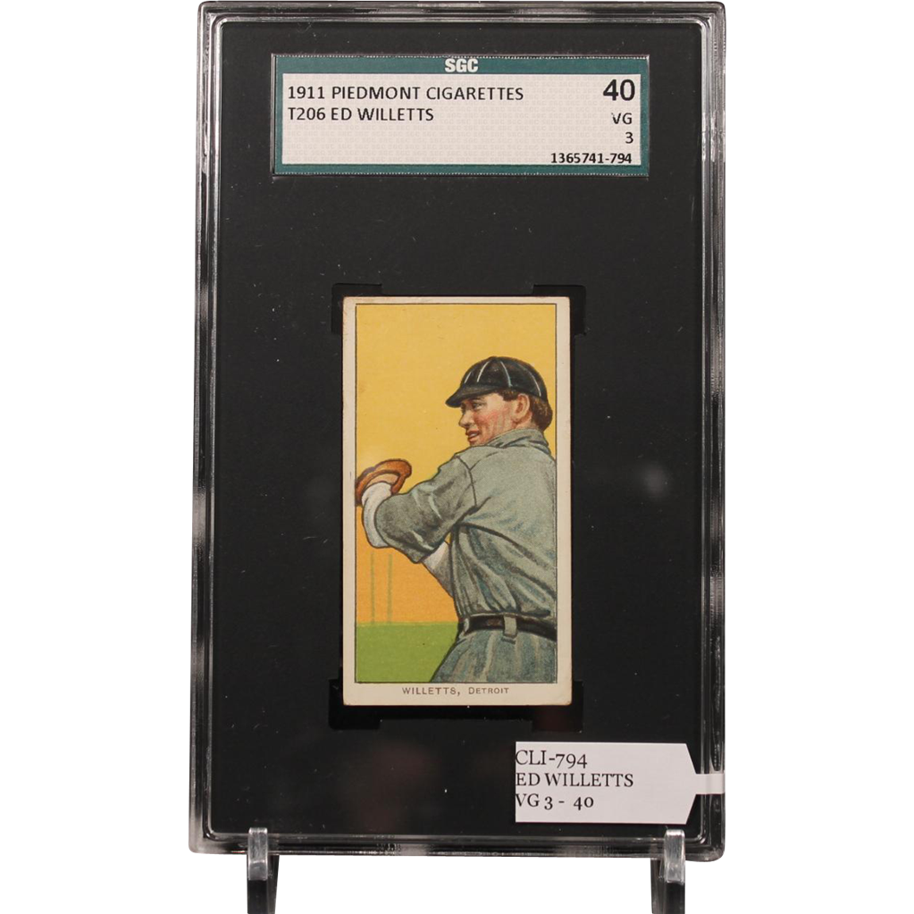 T206 ED WILLETTS SGC grade 40 VG 3