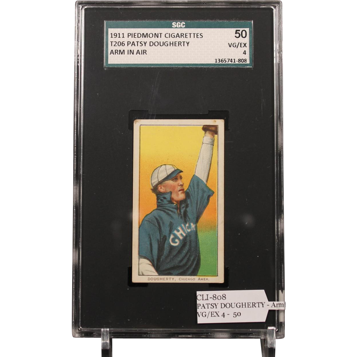 T206 PATSY DOUGHERTY - Arm in Air SGC grade 50 VG/EX 4