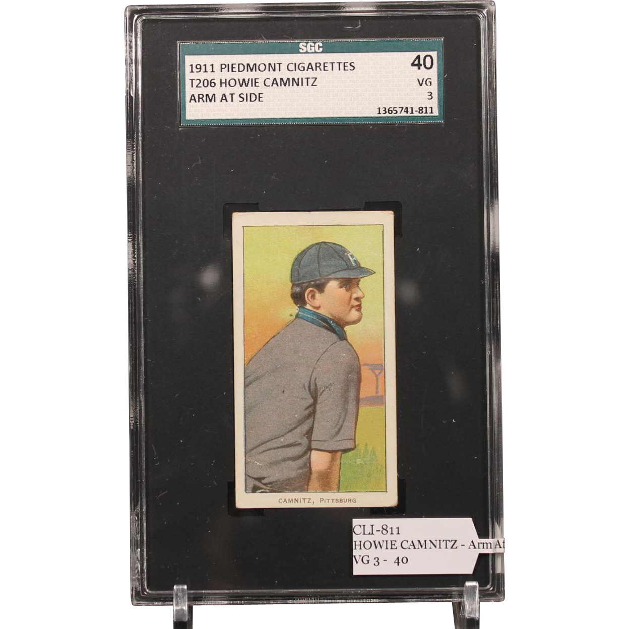 T206 HOWIE CAMNITZ - Arm At Side SGC grade 40 VG 3