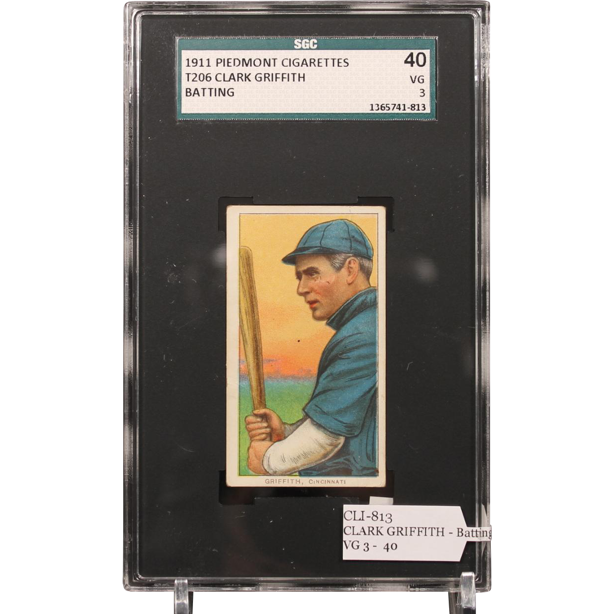 T206 CLARK GRIFFITH - Batting SGC grade 40 VG 3