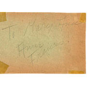 Ann Francis Autograph