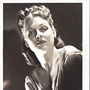 Ann Sheridan 1939 Signed Photograph