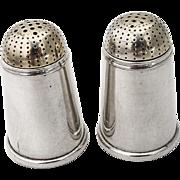 Gilt Tip Salt Pepper Shakers Pair Gorham 932 Sterling Silver