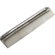 Alvin Sterling Silver Comb Minor Pattern Plastic Teeth 1950