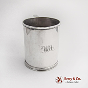 Vintage Childs Cup S Kirk Sterling Silver 1840 Monogram