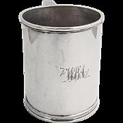 Vintage Childs Cup S Kirk Sterling Silver 1840 Monogram
