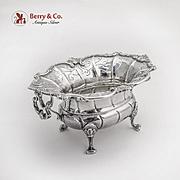 Dutch Pierced  Footed Bowl Swing Handles 833 Standard Silver 18th Century