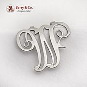 Ornate Openwork Napkin Clip Letter M Apollo Silver Co Sterling Silver