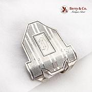 Engraved Vintage Napkin Clip Webster Sterling Silver Monogrammed
