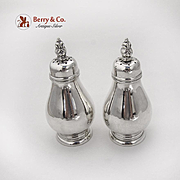 Royal Danish Salt Pepper Shakers Set International Sterling Silver 1939