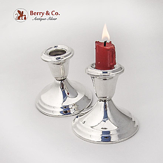 Gorham Console Candle Holders Pair Weighted Bases Sterling Silver
