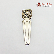 Vintage Engraved Bookmark Cut Work Overlay Decoration 930 Sterling Silver