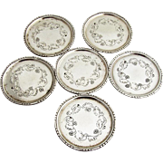 Foliate Berry Nut Dishes Set Georg Jensen Sterling Silver Denmark