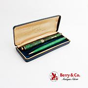 Palmer Method Pen Pencil Set 14K Gold Nib Original Presentation Box 1937