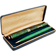 Palmer Method Pen Pencil Set 14K Gold Nib Original Presentation Box 1937