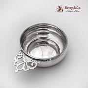 Vintage Porringer Baby Feeding Bowl Cut Work Handle Lunt Sterling Silver