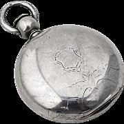 Huge Hunter Case Pocket Watch Coin Silver Case American Watch Co