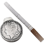 Vintage Morgan Silver Dollar Lighter Sterling Silver 1900