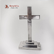 Presentation Cross Pedestal Base S Kirk And Son Inc Sterling Silver