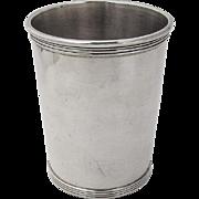 Vintage Julep Cup Banded Rim Base Newport Sterling Silver