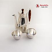 Modernist Coffee Set 3 Piece Michelsen Sterling Silver 1957 Denmark