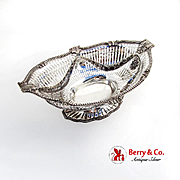 Renaissance Revival Bread Basket Acanthus Leaf Swags Gorham Sterling Silver