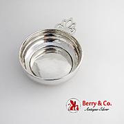 Lunt Porringer Baby Feeding Bowl Keyhole Handle Sterling Silver 1960