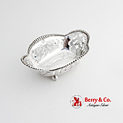 Tiffany Co Cut Work Nut Candy Dish Beaded Rim Sterling Silver No Mono