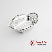 Tiffany Co Cut Work Nut Candy Dish Beaded Rim Sterling Silver No Mono