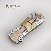 Mixed Metals Arrow Paper Clip Copper Brass Sterling Silver Mexico