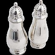 Vintage Salt Pepper Shakers Pair Towle Sterling Silver 1960