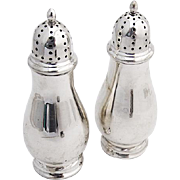 Vintage Salt Pepper Shakers Pair Towle Sterling Silver 1960
