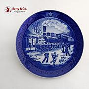 Royal Copenhagen Christmas Guests Arrive Plate 1993 Porcelain