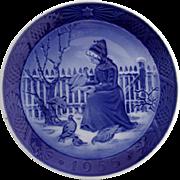 Royal Copenhagen Fano Girl Christmas Plate 1955 Porcelain