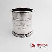 Aesthetic Childs Cup Gilt Interior Gorham Sterling Silver 1887 Date Mark