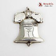 Gorham Liberty Bell Christmas Ornament Sterling Silver 1988