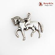 Gorham Man On Horseback Christmas Ornament Sterling Silver 1979