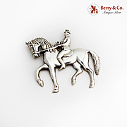 Gorham Man On Horseback Christmas Ornament Sterling Silver 1979