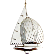 Gorham Twelve Meter Yacht Christmas Ornament Sterling Silver 1987