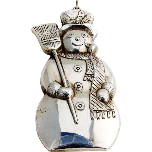 Gorham Snowman Christmas Ornament Sterling Silver 1986