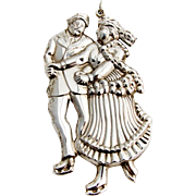 Gorham Skaters Christmas Ornament Sterling Silver 1983