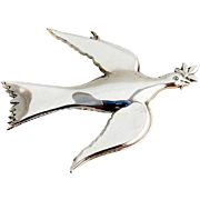 Gorham Mount Vernon Dove Christmas Ornament Sterling Silver 1972