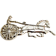 Gorham Horse And Sulky Christmas Ornament Sterling Silver 1980
