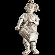 Gorham Drummer Boy Christmas Ornament Sterling Silver 1984