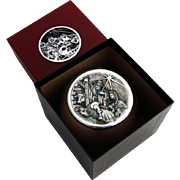 Cazenovia Nativity Scene Christmas Ornament 999 Sterling Silver Boxed