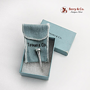 Tiffany Co Golf Tee Sterling Silver Original Box