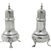 George II Reproduction Salt Pepper Shakers Pair Frank M Whiting Sterling Silver