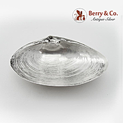 Large Clam Shell Form Bowl Ball Feet Wallace Sterling Silver