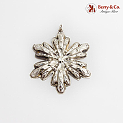 Gorham Snowflake Christmas Ornament Sterling Silver 1974